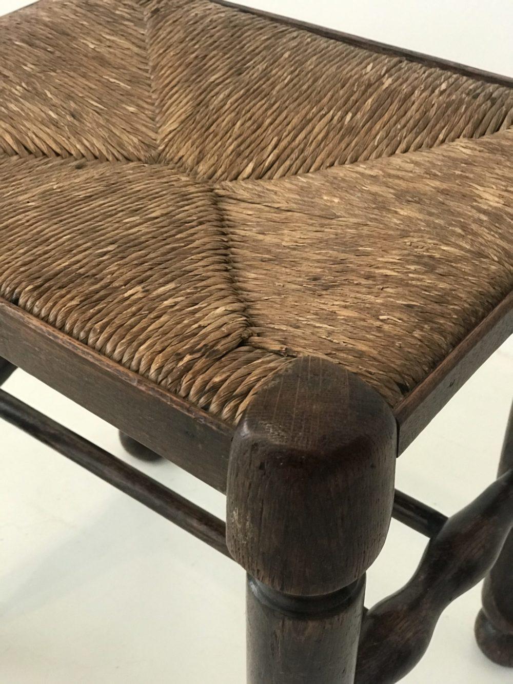 Oak Rush Seated Stool